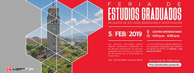 FUNIBER presentará su programa de becas en la feria de Estudios Graduados 2019 de Puerto Rico