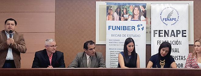 FUNIBER y FENAPE firman acuerdo de colaboración en Ecuador