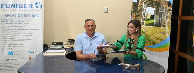 FUNIBER y la alcaldía de Trujillo firman convenio de colaboración