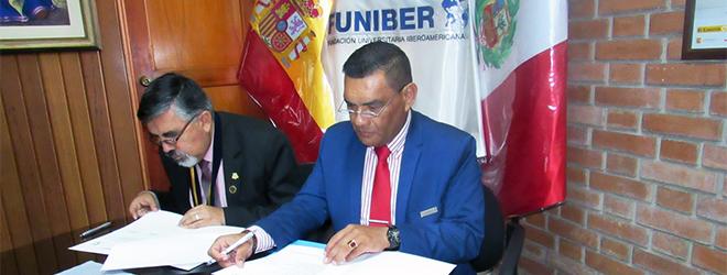 FUNIBER firma convenio de colaboración con el Colegio de Profesores del Perú