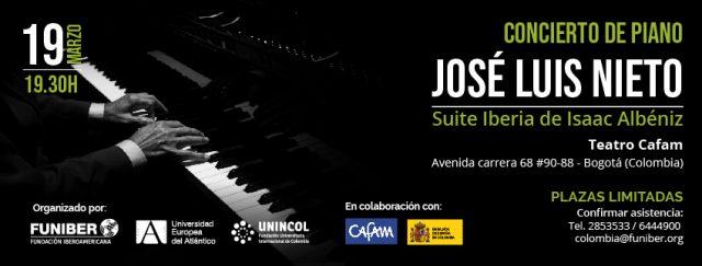 José Luis Nieto inicia su gira por Latinoamérica actuando en Colombia