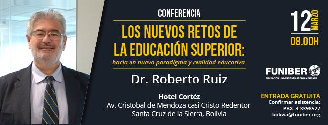 Conferencia en Bolivia sobre los nuevos retos de la educación superior