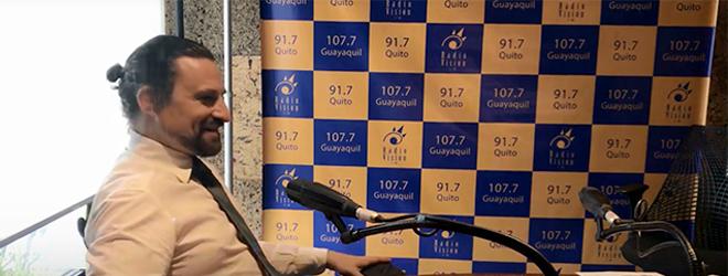 José Luis Nieto entrevistado por Diego Oquendo en Radio Visión de Quito