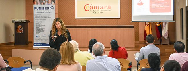 Magnífica conferencia de la Dra. Silvia Aparicio en la cámara Oficial Española de Comercio de Ecuador