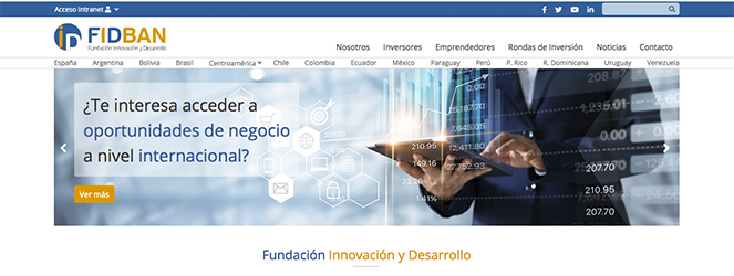 La Fundación Innovación y Desarrollo (FIDBAN) renueva su página web