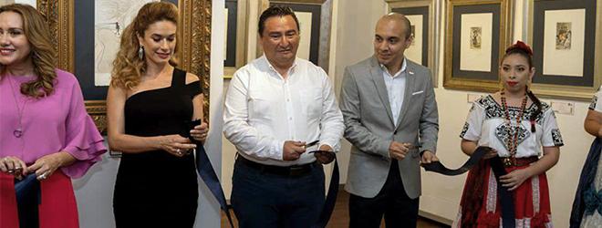 """Éxito de asistencia en la inauguración de la exposición """"Del capricho al disparate"""" en la Universidad Autónoma de Campeche"""