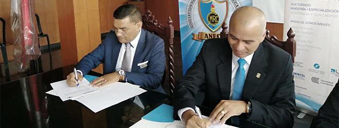 FUNIBER firma convenio de colaboración con la Asociación Nacional de Ex Cadetes (ANECC) de Trujillo
