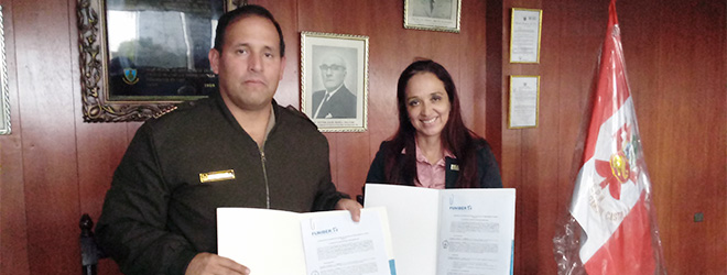 FUNIBER firma convenio con el Colegio Militar Gran Mariscal Ramón Castilla de Trujillo