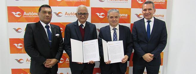 FUNIBER firma convenio de colaboración con la Universidad Autónoma del Perú