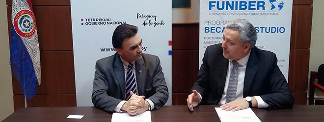 FUNIBER firma convenio de colaboración con la Secretaría Técnica de Planificación de Paraguay