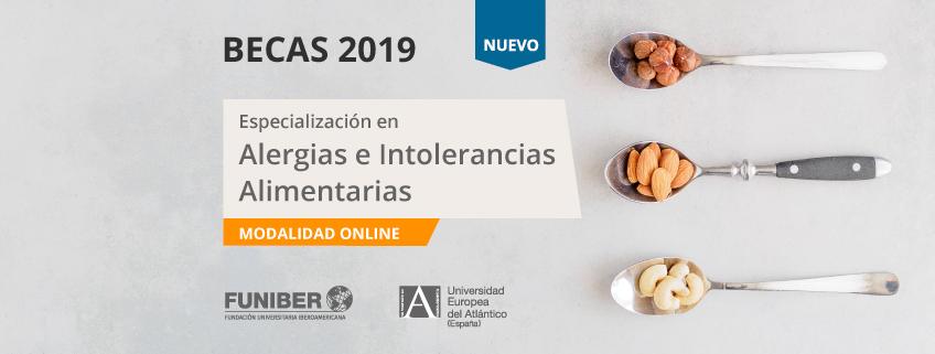 FUNIBER ofrece becas para cursar la nueva especialización en Alergias e Intolerancias Alimentarias