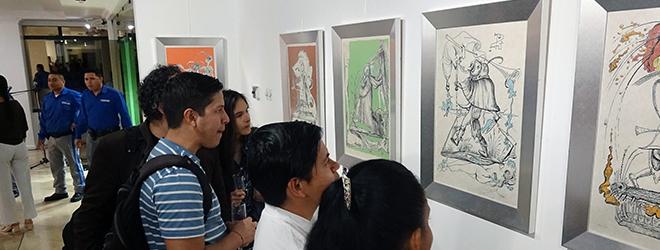 Gran éxito en la inauguración de la exposición de Dalí en el Museo Centro Cultural Manta