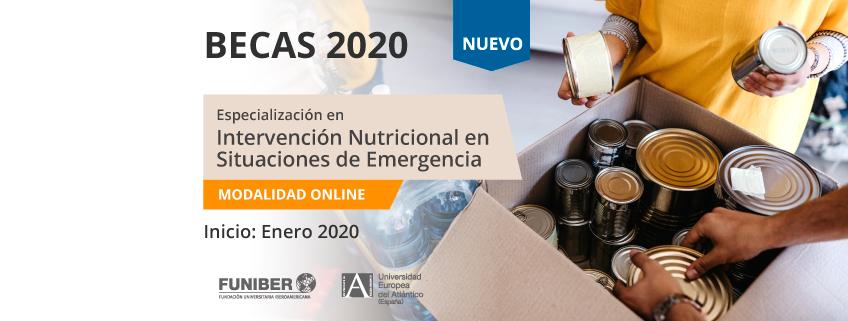 FUNIBER ofrece becas para la nueva especialización en Intervención Nutricional en Situaciones de Emergencia