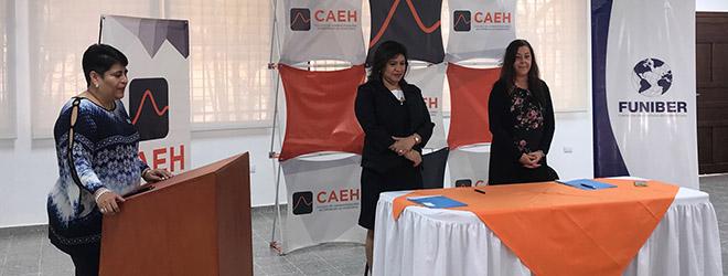 FUNIBER firma convenio de colaboración con el Colegio de Administradores de Empresas de Honduras (CAEH)