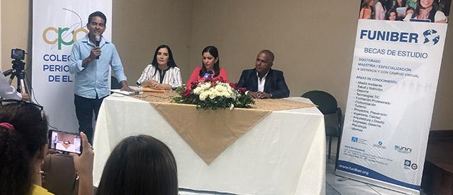 FUNIBER y el Colegio de Periodistas de El Oro firman convenio de colaboración