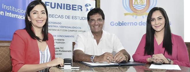 FUNIBER y el Gobierno Provincial del Guayas firman convenio de colaboración