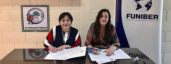 FUNIBER y la Estancia School firman convenio de colaboración