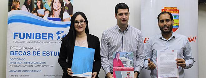 FUNIBER firma convenio de colaboración con la Gobernación de Alto Paraná