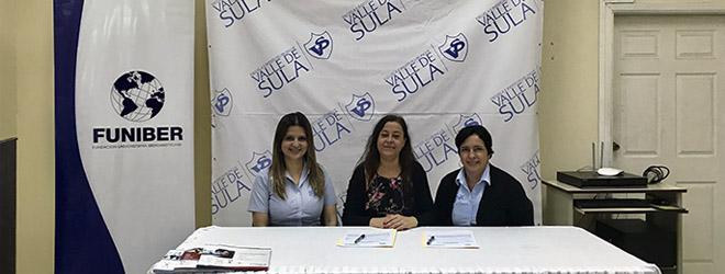 FUNIBER y la Escuela Bilingüe Valle de Sula firman convenio de colaboración