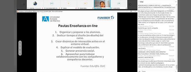 Éxito de participación en el webinar sobre enseñanza online