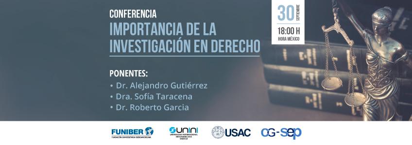 FUNIBER participa en webinar sobre la investigación en Derecho organizado por la USAC