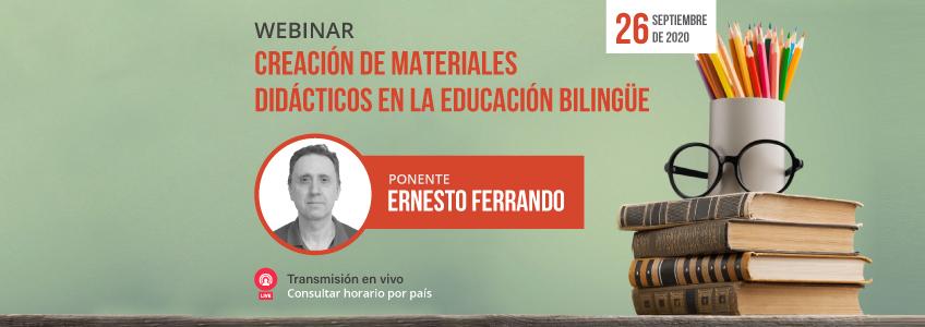 """FUNIBER organiza el webinar """"Creación de materiales didácticos en la educación bilingüe"""""""
