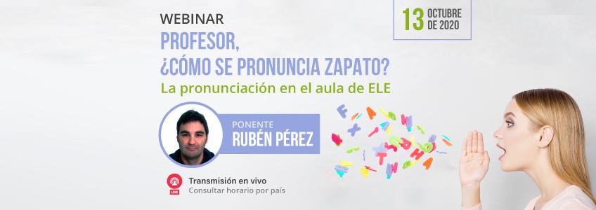 Webinar sobre pronunciación en Enseñanza de Español como Lengua Extranjera organizado por FUNIBER