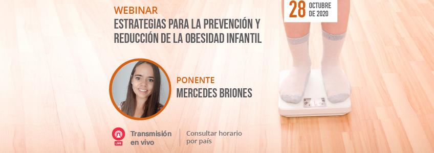 Próximo webinar sobre las estrategias para la prevención y reducción de la obesidad infantil