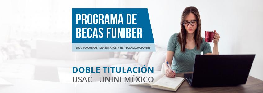 FUNIBER promueve programas formativos de doble titulación de USAC y UNINI México