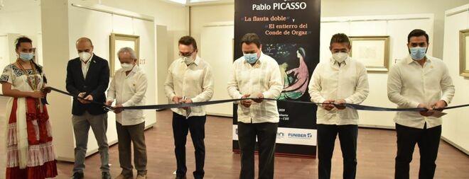 """Inauguración de la exposición de obras de Pablo Picasso """"La flauta doble"""" y """"El entierro del conde de Orgaz"""""""