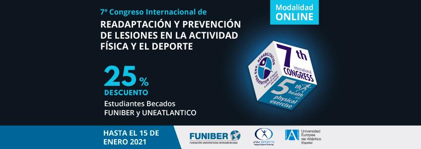 Tarifas especiales a estudiantes de la red universitaria de FUNIBER para el Congreso de Prevención de Lesiones