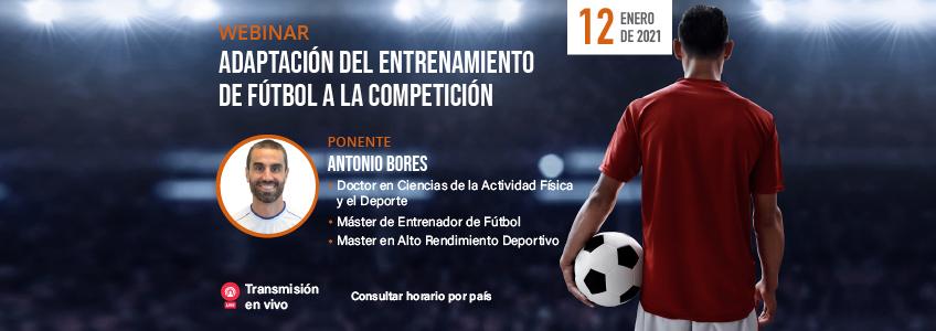 Próximo webinar sobre el Entrenamiento Deportivo en Fútbol organizado por FUNIBER