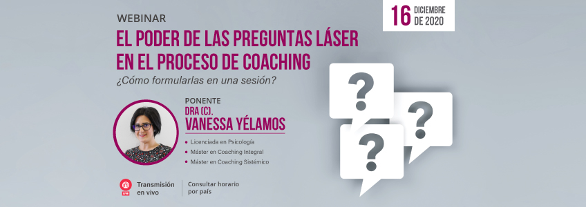 Webinar sobre las preguntas láser en el proceso de coaching organizado por FUNIBER