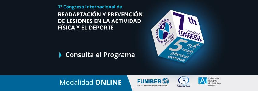 Programa del Congreso de Readaptación y prevención de lesiones organizado por FUNIBER