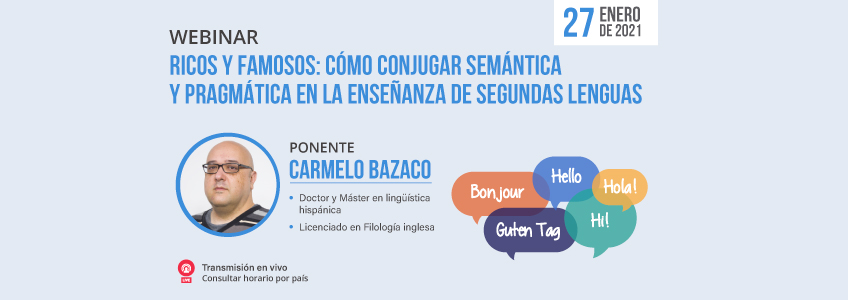 FUNIBER organiza webinar sobre semántica en la enseñanza del español