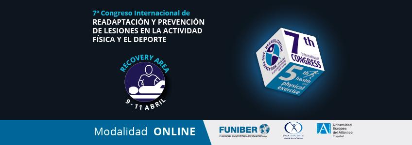 Ponencias del Área Recovery que integrarán el Congreso Internacional de Readaptación y Prevención de Lesiones organizado por FUNIBER