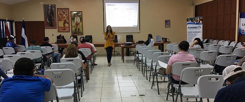 FUNIBER presenta su programa de Becas a miembros del Instituto Nicaragüense de Deportes (IND)