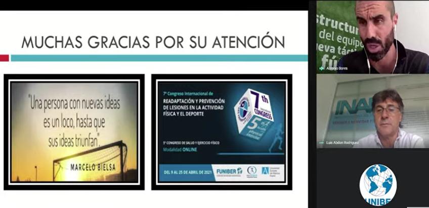Exitosa acogida del webinar organizado por FUNIBER para el Instituto Nacional de Fútbol (INAF)