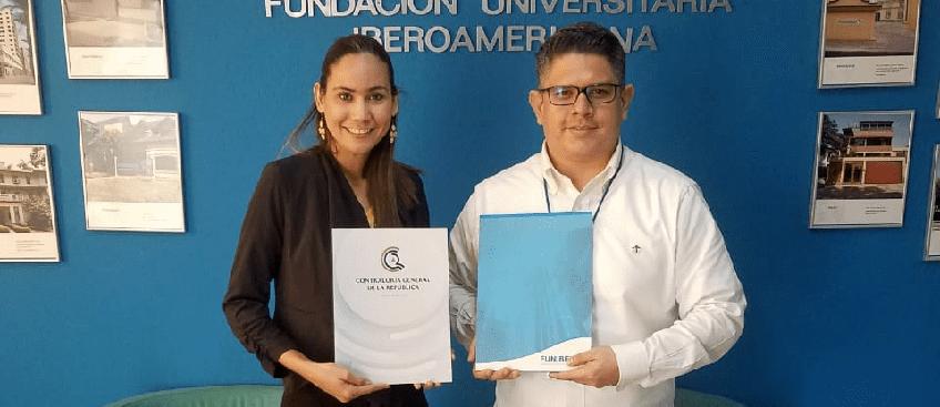 Firma de convenio entre FUNIBER y la Contraloría General de la República en Nicaragua