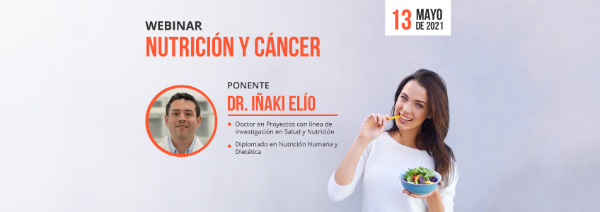 """FUNIBER organiza el webinar """"Nutrición y cáncer"""""""