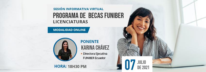 FUNIBER organiza Sesión Informativa de Becas para Licenciaturas Online en Ecuador