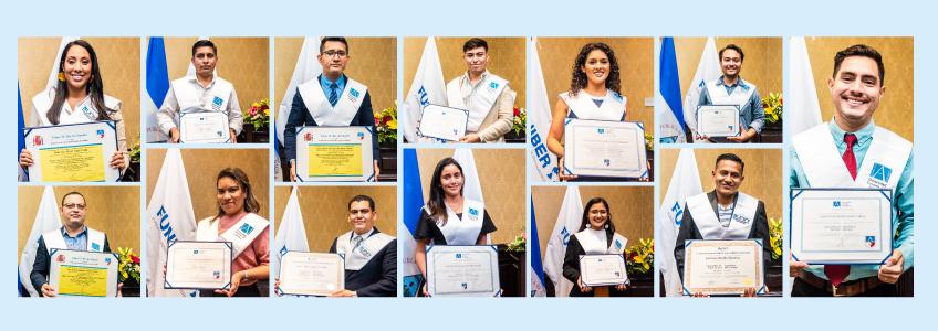 Entrega de títulos universitarios a estudiantes becados por FUNIBER en Nicaragua