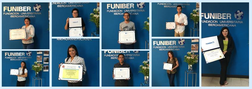 Entrega de títulos en la sede de FUNIBER en Nicaragua