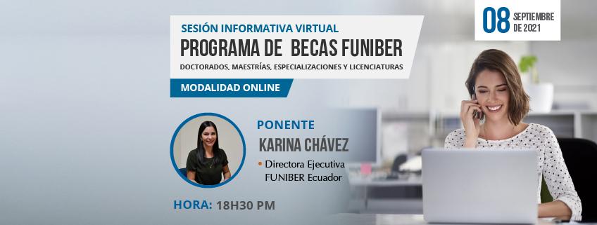 FUNIBER Ecuador realizará sesión informativa de convocatoria de Programa de Becas