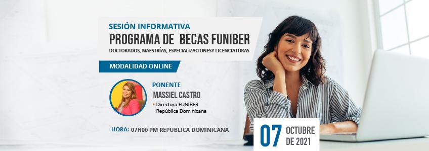 FUNIBER organiza sesión informativa de becas virtual en República Dominicana