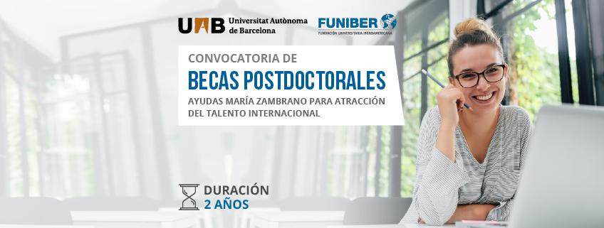 FUNIBER colabora en la convocatoria de becas Ayudas María Zambrano