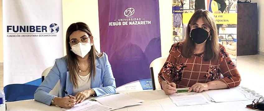 FUNIBER renueva convenio con la Universidad Jesús de Nazareth de Honduras